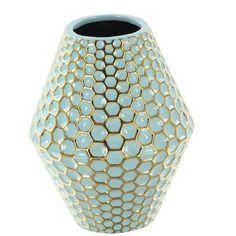 "Cole & Grey Ceramic Table Vase Size: 10"" H x 8"" W x 8"" D"