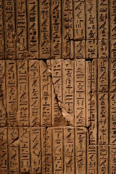 """Hieroglyph (Greek for """"sacred carving"""") Egyptian Symbols, Ancient Egyptian Art, Ancient Symbols, Mayan Symbols, Viking Symbols, Viking Runes, Old Egypt, Egypt Art, Museums In Nyc"""