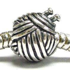 Queenberry Free S/H Sterling Silver Knitting Wool Ball Bead for Pandora Troll Chamilia Biagi European Story Charm Bracelets