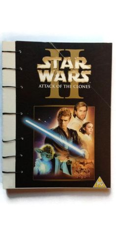 STAR WARS II Attack of the Clones coptic journal reworked Video box