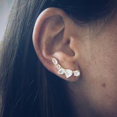 Wing Moonstone Ear Climbers - local eclectic  - 8