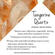 Tangerine Quartz crystal meaning