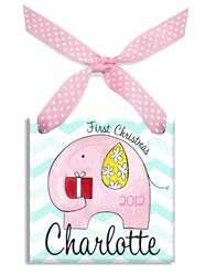 Baby Girl 1st Christmas Elephant Ornament- wanna get this for my niece