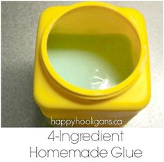 Homemade Glue made with common kitchen ingredients! - Happy Hooligans - easy for little ones to use - saves money - fun to make