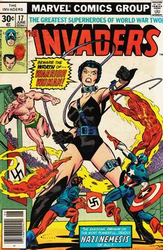 The Invaders, June. #vintage comics covers