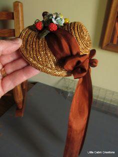 """""""MAKE DO DOLLS"""": Dolly's Handmade Straw Bonnet"""