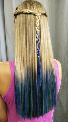Braid and crazy colors stefanos&fratzeskos coiffure