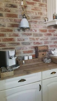 Old look New York Style Steenstrips in keuken
