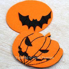 make halloween felt coasters