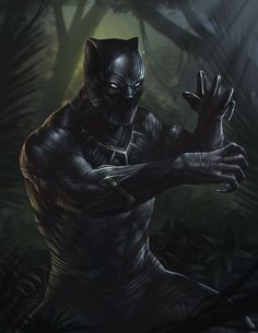 """thecomicninja: """"Black Panther by Oliver Morit """" Black Panther Storm, Black Panther Art, Black Panther Marvel, Marvel Comics Art, Marvel Heroes, Marvel Characters, Poster Marvel, Cosmic Comics, Avengers Comics"""