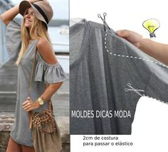 Diy Ropa Reciclada Blusas Manualidades 46 Ideas For 2019 Cut Clothes, Sewing Clothes, Diy Clothes For School, Diy Clothing, Clothing Patterns, Diy Fashion, Ideias Fashion, Punk Fashion, Fashion Dresses