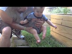 Deaf and blind baby experiences grass for the first time - Holy Kaw!