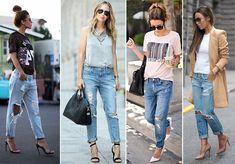 Como usar jeans rasgado (destroyed)