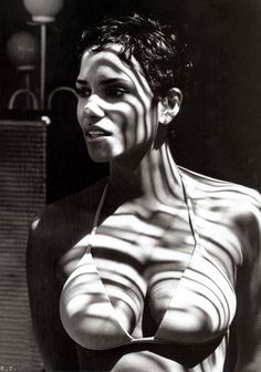 Halle Berry. Only she could look so stunning in such a simple protrait.