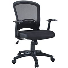 Modway Black Mesh Office Chair (Black)