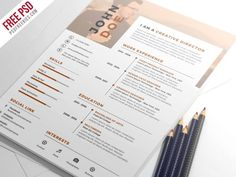 PSD Freebies Nice And Clean Resume Cv Psd Template Psdfreebiescom Best Free Resume Templates, Simple Resume Template, Job Resume Template, Cv Template, Print Templates, Psd Templates, Sample Resume, Graphic Design Resume, Resume Cv