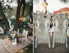 BHLDN bride and groom chair decor
