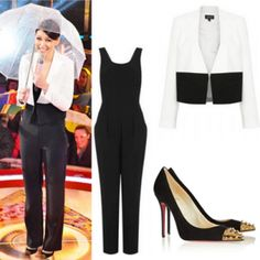 Where did Emma Willis get her black and white outfit from at the Celebrity Big Brother final 29/01/14? - Style on Screen