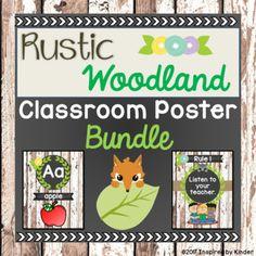 Rustic Woodland Animal Themed Classroom Decor