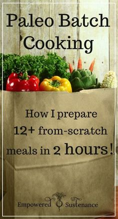 Game plan, ingredient list and recipes for making 12+ paleo meals in just 2 hours - a great resource to pin for later! #paleo #glutenfree #batchcooking