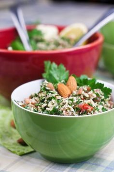 Cauliflower Tabouleh. Gluten and Grain Free Vegan, Low Fat--SO healthy!