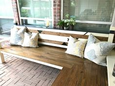 L-Shaped DIY Outdoor Bench
