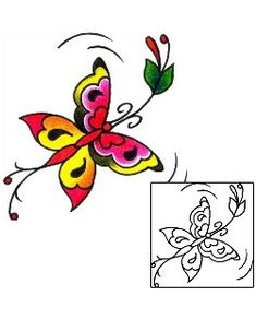 Butterfly Tattoos BKF-00387 Created by Captain Black