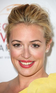 Cat Deeley Bobby Pinned updo