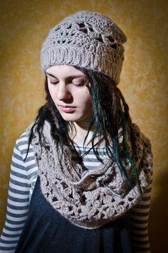 Items similar to Beautiful Crochet Hat and Scarf on Etsy Beautiful Dreadlocks, Cowls, Beautiful Crochet, Dreads, Crochet Projects, Shawl, Scarves, Winter Hats, Crochet Hats