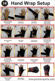 Hand wrap Setup! Easy way to wrap your hand and get ready for the training ;) Parana Sports To Enhance your performance #Fitness