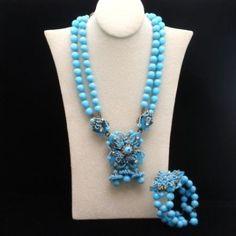 Miriam Haskell Necklace Bracelet Set Vintage