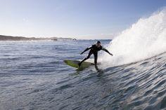 Winter surfing in norway.