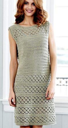 Ideas For Crochet Vestidos Fashion Ganchillo Crochet Summer Dresses, Crochet Doll Dress, Black Crochet Dress, Crochet Skirts, Crochet Blouse, Crochet Clothes, Knit Dress, Pull Crochet, Crochet Lace