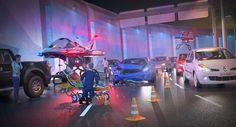 SkyWay Air Ambulance Futuristic Vehicle - futuristic-look