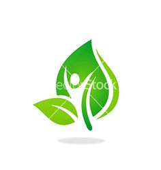 Man+people+leaf+spa+ecology+nature+logo+vector+on+VectorStock&reg
