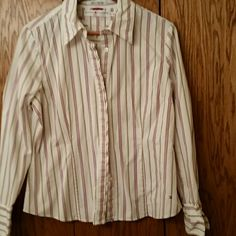 Button top Stripe button top Tommy Hilfiger Tops Button Down Shirts