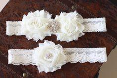SALE Wedding garter, Ivory garter set, Vintage bridal garter set on Etsy, $26.43 CAD