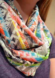 Spring patterned Infinity Scarf