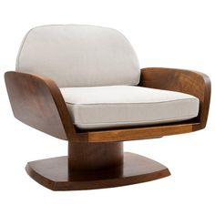 Robert Whitley American Studio Craft Movement Upholstered Lounge Chair, 1968 | From a unique collection of antique and modern lounge chairs at https://www.1stdibs.com/furniture/seating/lounge-chairs/