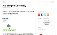 Getting Things Done with Evernote—The Secret Sauce: Saved Searches © mysimplecuriosity.com