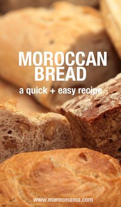 How to Make Moroccan Bread (Khobz). This quick, easy recipe is perfect for your next tajine dinner. Moroccan Bread, Morrocan Food, Moroccan Dishes, Moroccan Party, Moroccan Chicken, My Recipes, Bread Recipes, Vegan Recipes, Tapas