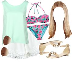 Alison Dilaurentis inspired beach day outfit by liarsstyle featuring a polyester shirt