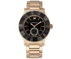 Octea Classica Black Rose Gold Tone Bracelet Watch - Watches - Swarovski Online Shop