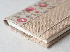 Fabric notebook cover eco friendly burlap cover by SeaBreezeStore Diary Cover Design, Notebook Cover Design, Notebook Covers, Journal Covers, Diy Journal Books, Bullet Journal Ideas Pages, Junk Journal, Pocket Notebook, Diy Notebook