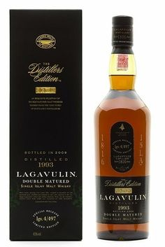 Lagavulin single malt whiskey
