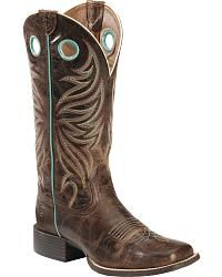 Ariat Round Up Ryder Cowgirl Boots - Square Toe