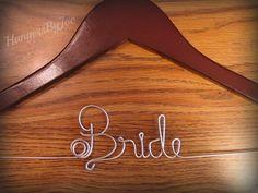 Bride Hanger Bridal Hanger via Etsy