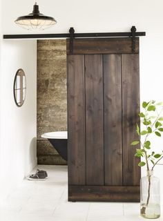 Interior design i love the sliding wooden door http sliding bathroom door lowes sliding barn doorswood planetlyrics Gallery