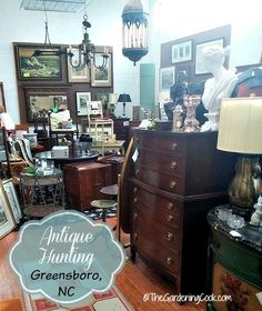 Antique Hunting in Greensboro, NC.  So many finds!  Read about it here:  http://thegardeningcook.com/antique-hunting-day-trip/