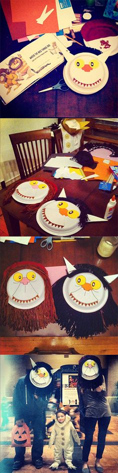 Where The Wild Things Are | Halloween DIY | Paper Plate Masks